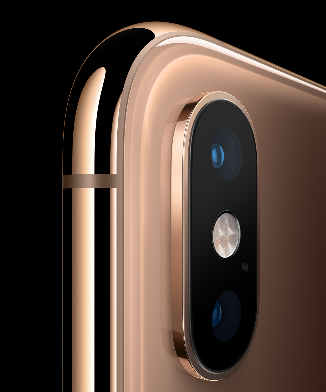The iPhone XS and XS MAX boast an impressive camera array. Image from the Apple Newsroom.