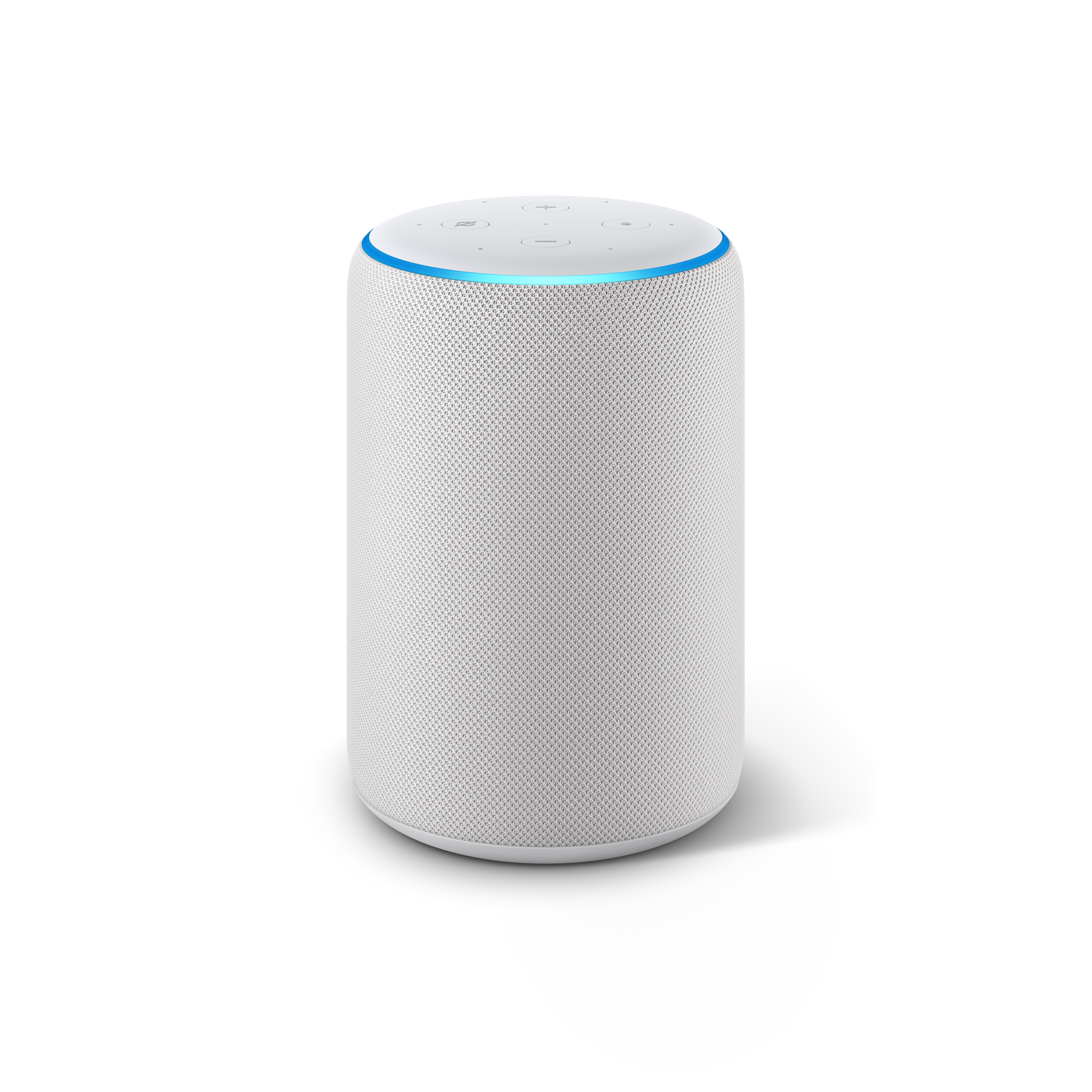 The new Echo Plus features a fabric design and rounded top as well as offline features. Image: Amazon